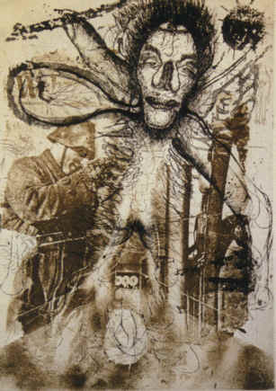 Narcisis Etching by Wolfgang Petrick