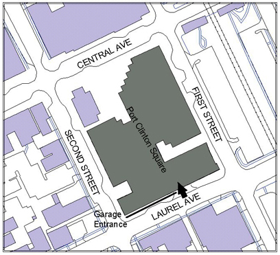 Port Clinton Square Garage Parking Map